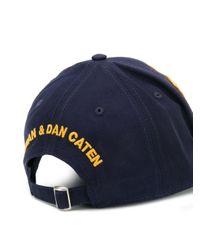 Бейсболка С Вышивкой DSquared² для него, цвет: Blue