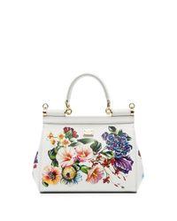 Borsa tote a fiori Dauphine di Dolce & Gabbana in Multicolor