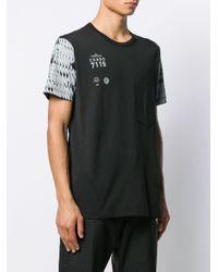 Stone Island Shadow Project T-Shirt in Colour-Block-Optik in Gray für Herren