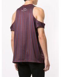 Camiseta de fútbol con aberturas Martine Rose de hombre de color Brown