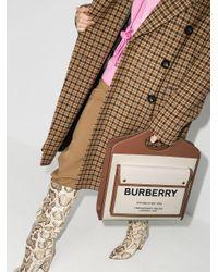 Sac cabas à logo imprimé Burberry en coloris Brown
