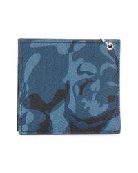 Alexander McQueen - Blue Camouflage Billfold Wallet for Men - Lyst