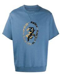 メンズ Maison Margiela ロゴ スウェットシャツ Blue