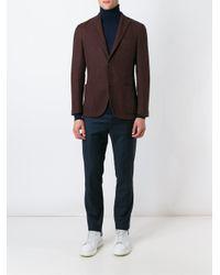 Boglioli Blue Two Button Blazer for men