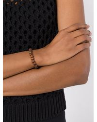 Rosa Maria - Brown Beads & Charm Bracelet - Lyst