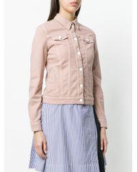 Emporio Armani - Pink Denim Jacket - Lyst