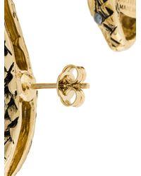 Roberto Cavalli - Metallic Snake Ear Cuffs - Lyst