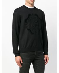 Versace Jeans Black Classic Round Neck Jumper for men
