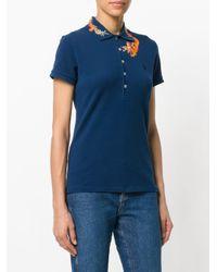 Polo Ralph Lauren Blue Embroidered Dragon Polo Shirt
