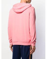 Lacoste Kapuzenpullover mit Logo-Print in Pink für Herren
