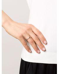 Rosa Maria Metallic Solitaire Diamond Ring