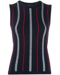 Thom Browne Blue Striped Sleeveless Jumper