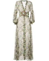 Robe longue à imprimé camouflage Silvia Tcherassi en coloris Green