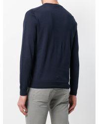 Paolo Pecora Blue Crew Neck Pullover for men