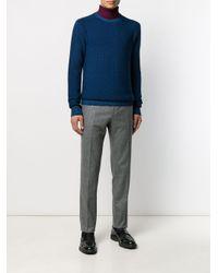 Altea Blue Gauge 7 Textured Knit Jumper for men