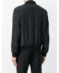 Versace - Black Fitted Bomber Jacket for Men - Lyst