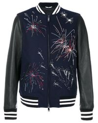 Valentino Black Firework Bomber Jacket for men