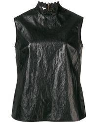 Philosophy Di Lorenzo Serafini Black Embellished Collar Tank Top