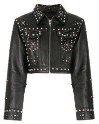 Jeremy Scott - Black Studded Jacket - Lyst