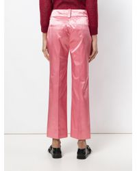 COACH Pink Cropped Tailored Trousers