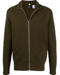 PS by Paul Smith Green Front Zip Jumper for men