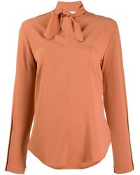 Blusa con fiocco di See By Chloé in Orange