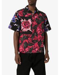 Camicia a fiori di Prada in Multicolor da Uomo