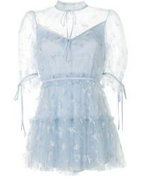 Alice McCALL Moon Lover フローラル ロンパース Blue