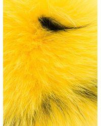 Fendi Yellow Pom-Pom Fox-Fur Bag Charm