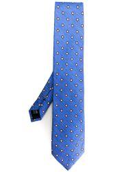 Pal Zileri Blue Printed Tie for men
