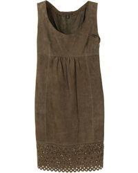 Платье Без Рукавов С Английской Вышивкой Louis Vuitton, цвет: Brown