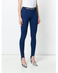 Paco Rabanne Blue Stirrup Trousers