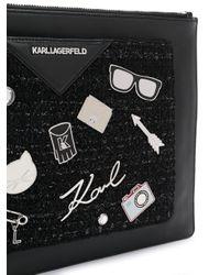 Karl Lagerfeld K/klassik クラッチバッグ Black