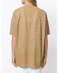 DROMe レザーメッシュシャツ Natural