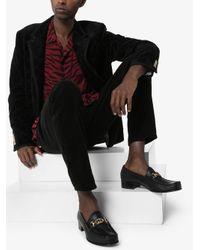 Лоферы С Логотипом Gucci для него, цвет: Black