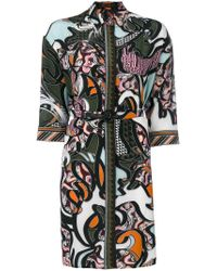 Versace Black Baroccoflage Shirt Dress