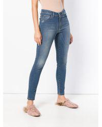 Twin Set Blue Stonewashed Skinny Jeans