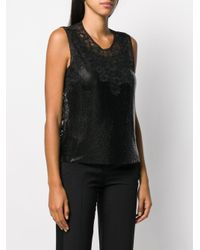 Paco Rabanne Black Chainmail Lace Vest