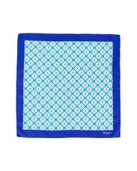 Foulard à imprimé géométrique Kiton pour homme en coloris Blue