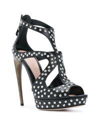 Декорированные Босоножки На Каблуке Alexander McQueen, цвет: Black