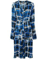 Chemise de nuit à carreaux House of Holland en coloris Blue