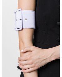 16Arlington - Purple Buckle Belt Bracelet - Lyst