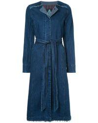 Guild Prime Blue Belted Denim Coat