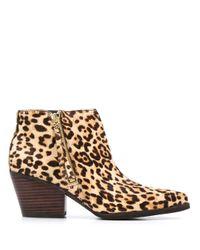 Sam Edelman Multicolor Leopard Print Ankle Boots