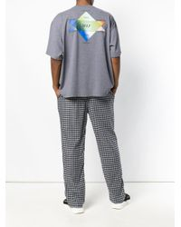 Balenciaga Gray Self Print Boxy T-shirt for men