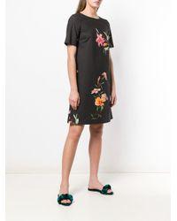 Etro フローラル シフトドレス Black