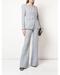 Pantalones anchos de vestir Veronica Beard de color Blue
