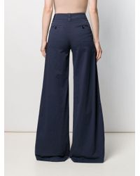 RED Valentino Blue Wide-leg Flared Trousers