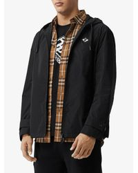 Куртка С Капюшоном И Логотипом Burberry для него, цвет: Black