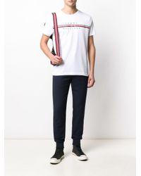 メンズ Tommy Hilfiger ロゴ Tシャツ White